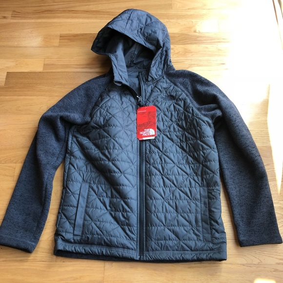 0a386831f6 Boys North Face Quilted Jacket with Sweater Sleeve